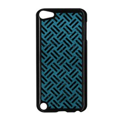 Woven2 Black Marble & Teal Leather Apple Ipod Touch 5 Case (black) by trendistuff