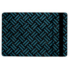 Woven2 Black Marble & Teal Leather (r) Ipad Air 2 Flip by trendistuff