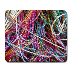 Funny Colorful Yarn Pattern Large Mousepads by yoursparklingshop