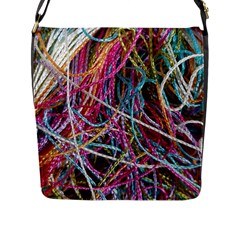 Funny Colorful Yarn Pattern Flap Messenger Bag (l)  by yoursparklingshop