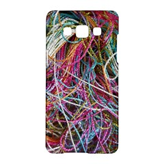 Funny Colorful Yarn Pattern Samsung Galaxy A5 Hardshell Case  by yoursparklingshop