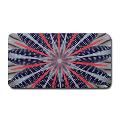 Red White Blue Kaleidoscopic Star Flower Design Medium Bar Mats by yoursparklingshop