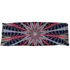 Red White Blue Kaleidoscopic Star Flower Design Body Pillow Case (dakimakura) by yoursparklingshop