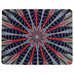 Red White Blue Kaleidoscopic Star Flower Design Jigsaw Puzzle Photo Stand (rectangular) by yoursparklingshop