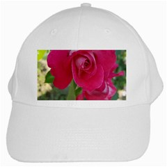 Romantic Red Rose Photography White Cap by yoursparklingshop