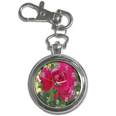 Romantic Red Rose Photography Key Chain Watches by yoursparklingshop