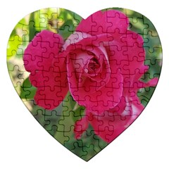 Romantic Red Rose Photography Jigsaw Puzzle (heart) by yoursparklingshop