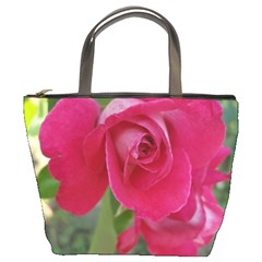Romantic Red Rose Photography Bucket Bags by yoursparklingshop