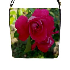 Romantic Red Rose Photography Flap Messenger Bag (l)  by yoursparklingshop