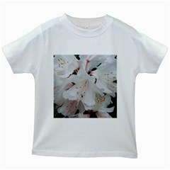 Floral Design White Flowers Photography Kids White T Shirts by yoursparklingshop