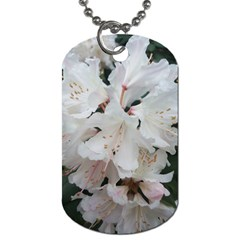 Floral Design White Flowers Photography Dog Tag (one Side) by yoursparklingshop