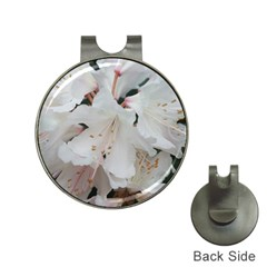 Floral Design White Flowers Photography Hat Clips With Golf Markers by yoursparklingshop