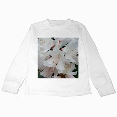 Floral Design White Flowers Photography Kids Long Sleeve T Shirts by yoursparklingshop