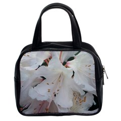 Floral Design White Flowers Photography Classic Handbags (2 Sides) by yoursparklingshop