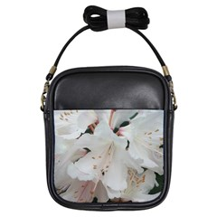 Floral Design White Flowers Photography Girls Sling Bags by yoursparklingshop