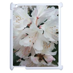 Floral Design White Flowers Photography Apple Ipad 2 Case (white) by yoursparklingshop