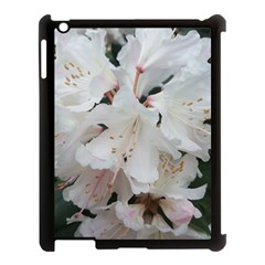 Floral Design White Flowers Photography Apple Ipad 3/4 Case (black) by yoursparklingshop