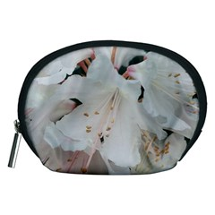 Floral Design White Flowers Photography Accessory Pouches (medium)  by yoursparklingshop