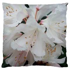 Floral Design White Flowers Photography Large Flano Cushion Case (two Sides) by yoursparklingshop