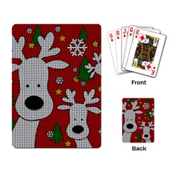 Cute Reindeer  Playing Card by Valentinaart