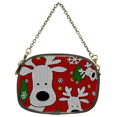 Cute Reindeer  Chain Purses (two Sides)  by Valentinaart
