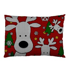 Cute Reindeer  Pillow Case (two Sides) by Valentinaart