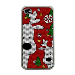 Cute Reindeer  Apple Iphone 4 Case (clear) by Valentinaart