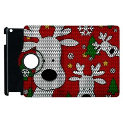Cute Reindeer  Apple Ipad 2 Flip 360 Case by Valentinaart