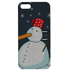 Snowman Apple Iphone 5 Hardshell Case With Stand