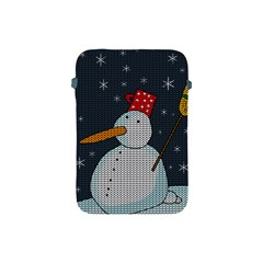 Snowman Apple Ipad Mini Protective Soft Cases by Valentinaart