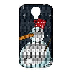 Snowman Samsung Galaxy S4 Classic Hardshell Case (pc+silicone) by Valentinaart