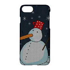 Snowman Apple Iphone 7 Hardshell Case by Valentinaart