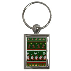 Ugly Christmas Sweater Key Chains (rectangle)  by Valentinaart
