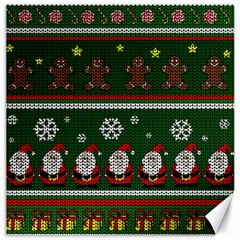 Ugly Christmas Sweater Canvas 16  X 16   by Valentinaart