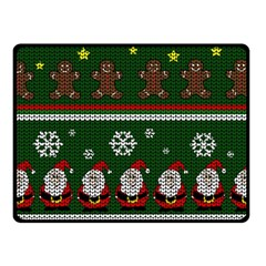 Ugly Christmas Sweater Fleece Blanket (small) by Valentinaart