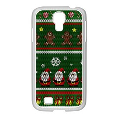 Ugly Christmas Sweater Samsung Galaxy S4 I9500/ I9505 Case (white) by Valentinaart