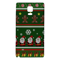 Ugly Christmas Sweater Galaxy Note 4 Back Case by Valentinaart
