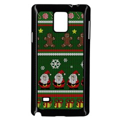 Ugly Christmas Sweater Samsung Galaxy Note 4 Case (black) by Valentinaart