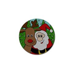Santa And Rudolph Selfie  Golf Ball Marker (4 Pack)