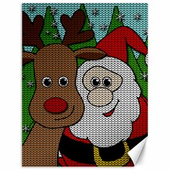Santa And Rudolph Selfie  Canvas 12  X 16   by Valentinaart