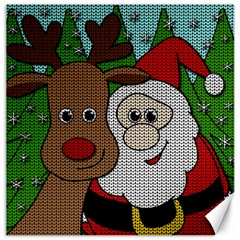 Santa And Rudolph Selfie  Canvas 16  X 16   by Valentinaart