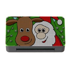 Santa And Rudolph Selfie  Memory Card Reader With Cf by Valentinaart