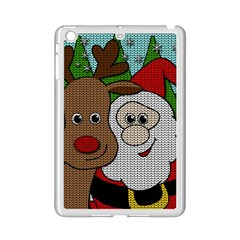 Santa And Rudolph Selfie  Ipad Mini 2 Enamel Coated Cases by Valentinaart