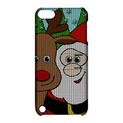 Santa And Rudolph Selfie  Apple Ipod Touch 5 Hardshell Case With Stand by Valentinaart