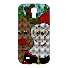 Santa And Rudolph Selfie  Samsung Galaxy S4 I9500/i9505 Hardshell Case by Valentinaart