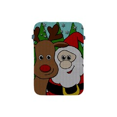 Santa And Rudolph Selfie  Apple Ipad Mini Protective Soft Cases by Valentinaart