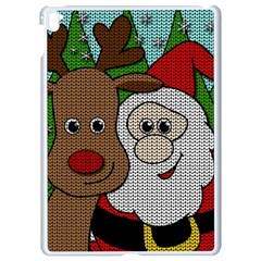 Santa And Rudolph Selfie  Apple Ipad Pro 9 7   White Seamless Case