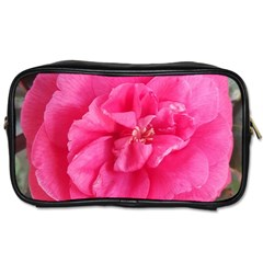 Pink Flower Japanese Tea Rose Floral Design Toiletries Bags 2 Side by yoursparklingshop