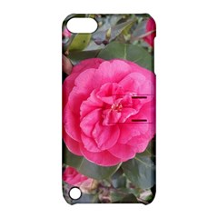 Pink Flower Japanese Tea Rose Floral Design Apple Ipod Touch 5 Hardshell Case With Stand by yoursparklingshop