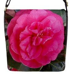 Pink Flower Japanese Tea Rose Floral Design Flap Messenger Bag (s) by yoursparklingshop